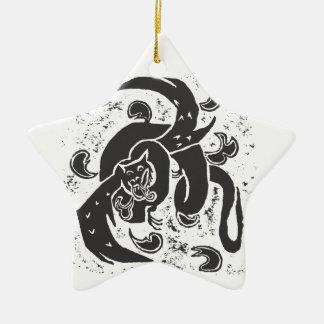 Black Dragon Star Pendant Christmas Tree Ornament