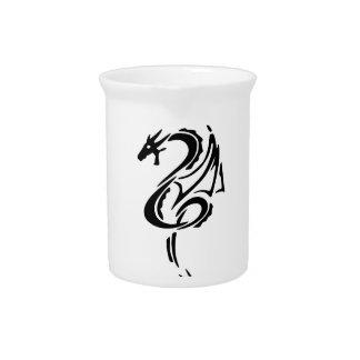 Black Dragon Tattoo Design Beverage Pitcher