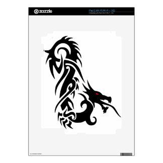 Black Dragon Tattoo Design iPad 2 Decal