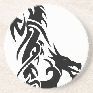 Black Dragon Tattoo Design Sandstone Coaster