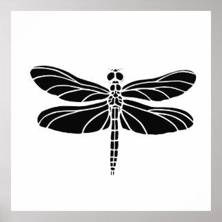 Black Dragonfly Poster