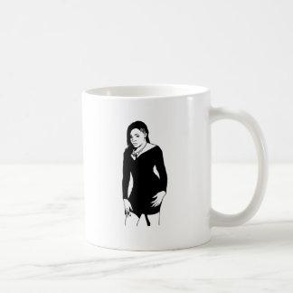Black dress classic white coffee mug