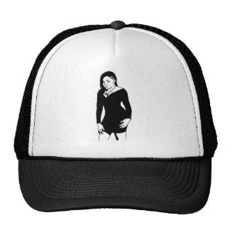 Black dress trucker hat
