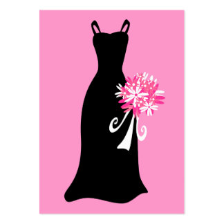 Black Dress with Bouquet Business Card