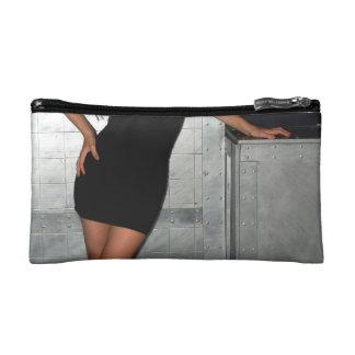 Black Dress Woman Cosmetic Bags