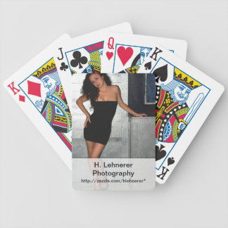 Black Dress Woman Bicycle Playing Cards