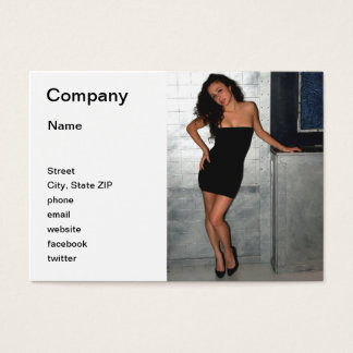 Black Dress Woman Business Card