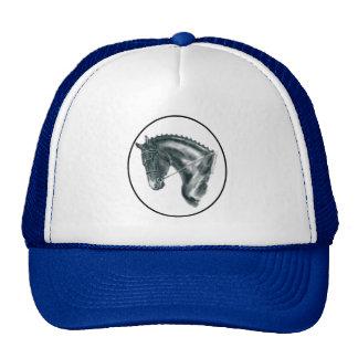 Black Dressage Horse Portrait Trucker Hat