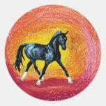 Black Dressage Stallion Sticker
