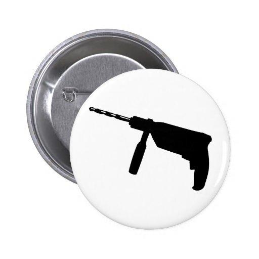 black drill machine icon button