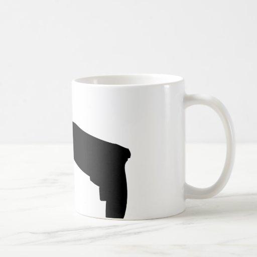 black drill machine icon coffee mug
