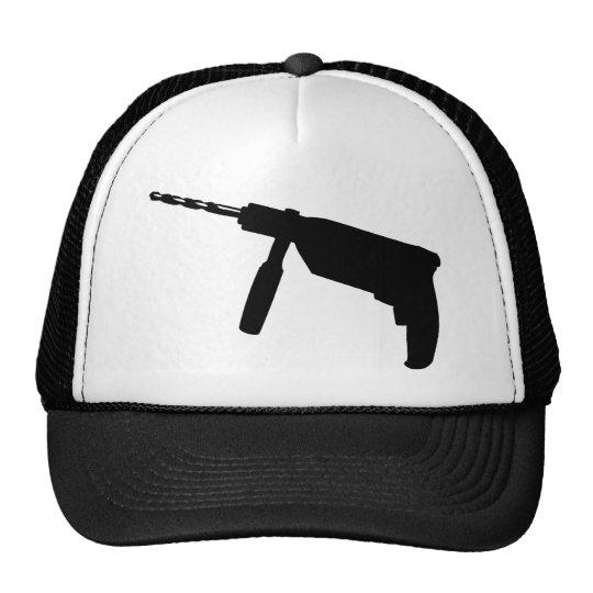 black drill machine icon trucker hat
