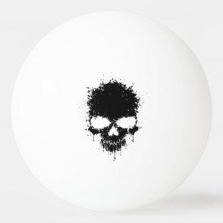 Black Dripping Splatter Skull Ping Pong Ball