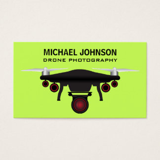 Black Drone   Drone Camera   Drone Photography Business Card