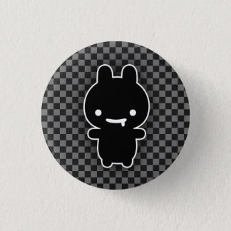 Black Drooling Bunny Button