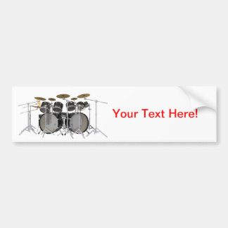 Black Drum Kit: 10 Piece: Bumper Sticker