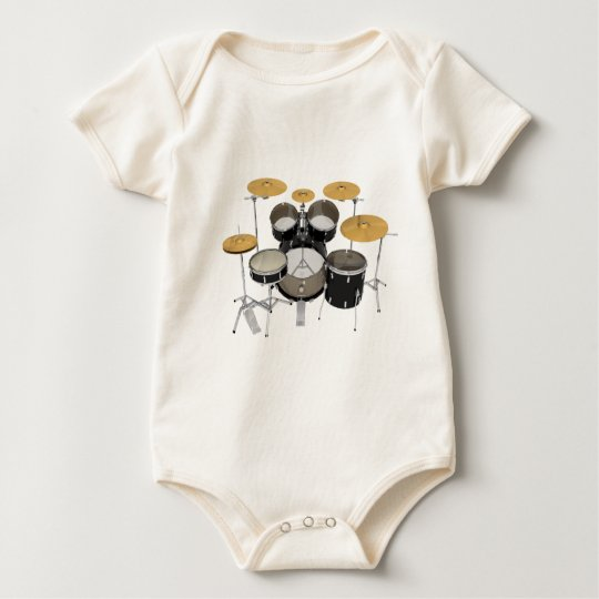Black Drum Kit: Baby Bodysuit