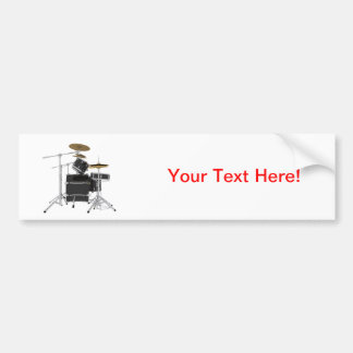 Black Drum Kit: Bumper Sticker