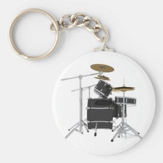 Black Drum Kit: Key Chain