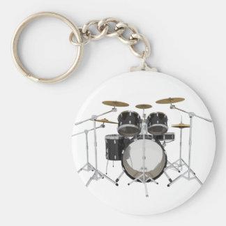 Black Drum Kit: Key Chains