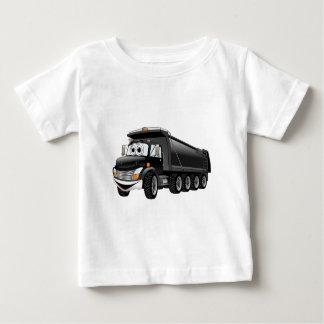 Black Dump Truck 10w Cartoon Baby T-Shirt