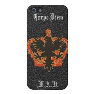 Black Eagle and crown Carpe Diem iPhone iPhone SE/5/5s Case