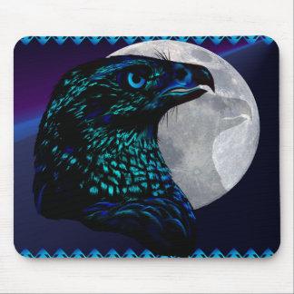 Black Eagle and Moon_Mousepad Mouse Pad