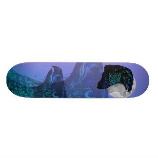 Black Eagle and Moon Skateboard