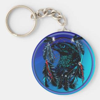 Black Eagle_Dreamcatcher-Keychain Basic Round Button Keychain