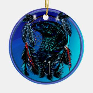 Black Eagle_Dreamcatcher-Ornament Ceramic Ornament
