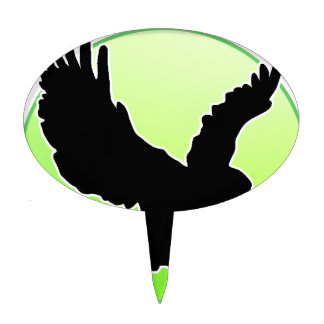 BLACK EAGLE GREEN CIRCLE PRODUCTS CAKE TOPPER