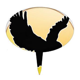 BLACK EAGLE MELON CIRCLE PRODUCTS CAKE TOPPER