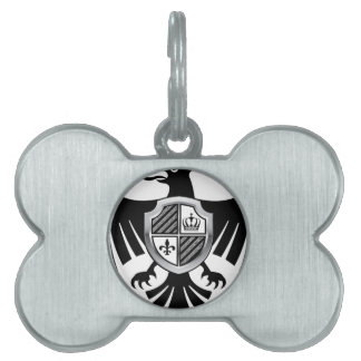 Black Eagle with Silver Shield Royal Vector Pet ID Tag