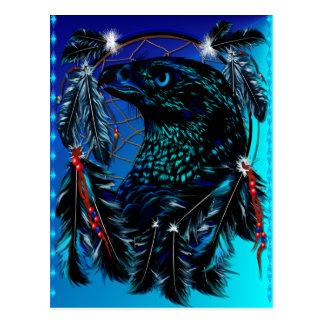 Black Ealge Dreamcatcher Postcard