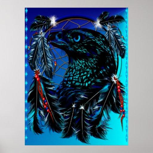 Black Ealge Dreamcatcher Poster
