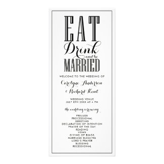 Black | Eat Drink and be Married Wedding Programs