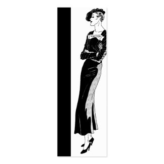 Black Edge Fashion in Black and White Business Cards
