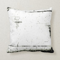 Black Edge Grunge Texture (Add Your Color) Pillows