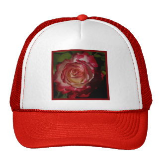 Black-Edged Red Rose Trucker Hat