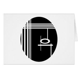 Black egg greeting cards