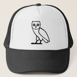 Black Egyptian Owl Trucker Hat