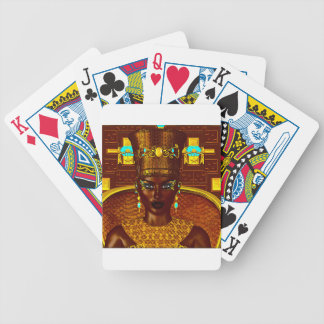 Black Egyptian princess in our modern digital art Bicycle Playing Cards