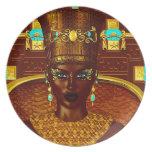 Black Egyptian princess in our modern digital art Dinner Plate