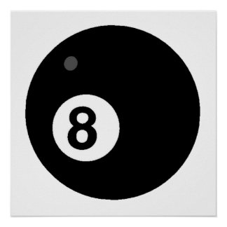 Black Eight Ball Poster