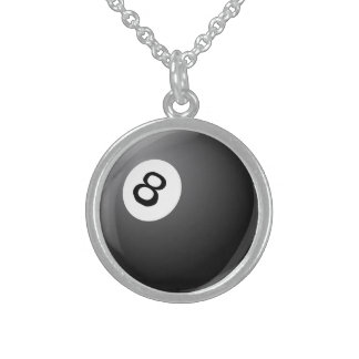 black eight is the game pool game necklace