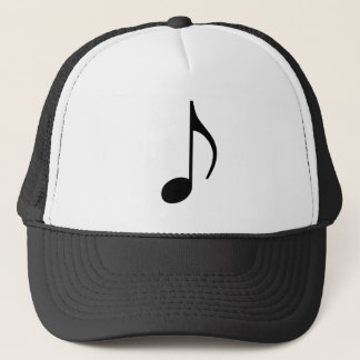 Black Eighth Note Trucker Hat
