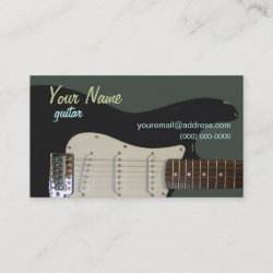Black Electric Guitar Business Card