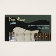 Black Electric Guitar Business Card at Zazzle