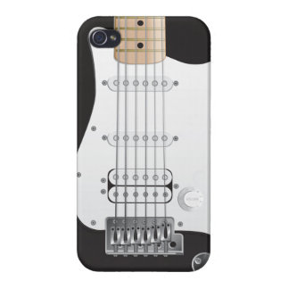Black Electric Guitar iPhone 4 Case
