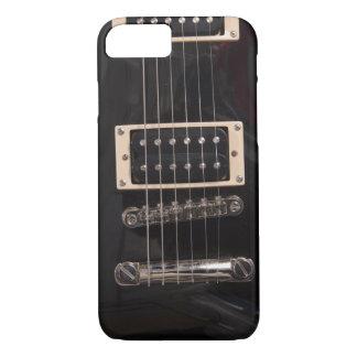 Black Electric Guitar Strings iPhone 8/7 Case